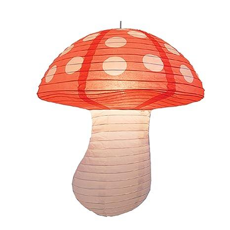 Lámpara colgante de papel para el techo en forma de seta ...