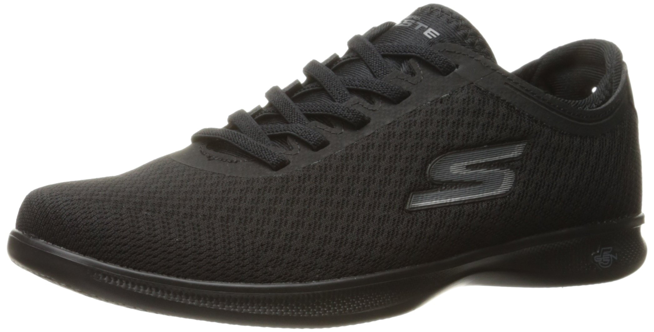 Skechers Performance Women's Go Step Lite-Dashing Walking Shoe, Black Mesh, 9.5 W US