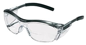 3M Reader Safety Glasses, 2.0 Diopter, Black Frame, Clear Lens