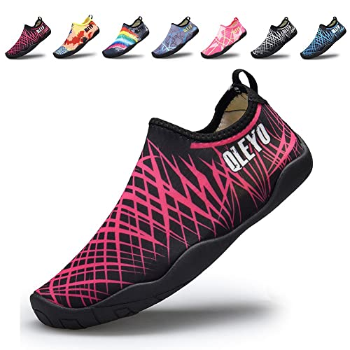 4a7c11182dc0 QLEYO Men and Women Water Sports Shoes Barefoot Quick-Dry Multifunctional  Sneakers with Drainage Holes