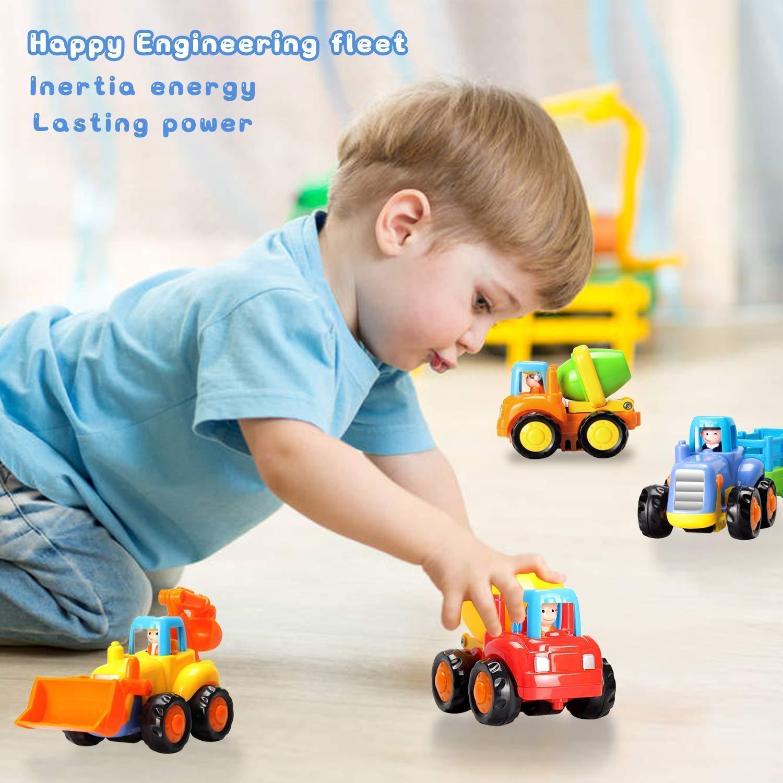 Bulldozer Macchina Giocattolo per Bambini Auto Tirare Indietro e Andare Regalo per Bambino 1-4 Anni con 4 Pizze Giochi di Veicoli Trattore Betoniera Dumper GoStock