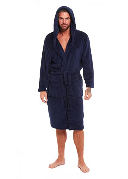 1fcb9b0a818 Habigail Super Soft Men Dressing Gown Mens Bathrobe Hooded - Offers a great  combination between quality and comfort - Great Gift (Medium