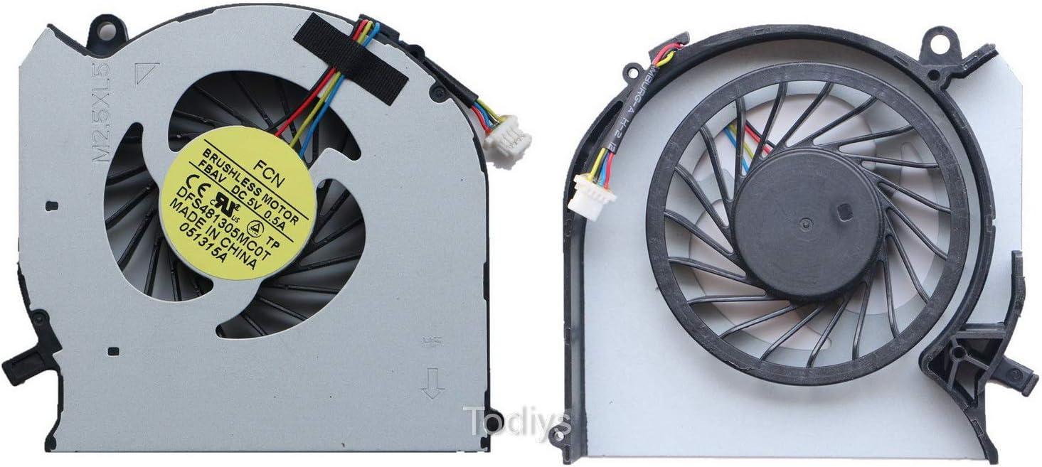 Todiys CPU Cooling Fan for HP Pavilion DV6-7000 DV6T-7000 DV7-7000 Series DV6-7043CL DV6-7135NR DV6-7229WM DV7-7012NR DV7-7128NR DV7-7223CL DV7-7270CA DV7-7278CA DV7-7358CA DV7-7373CA 682060-001