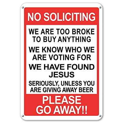 photo regarding Funny No Soliciting Sign Printable named Property Humorous No Soliciting Shift Absent Signal Massive No Soliciting 10\