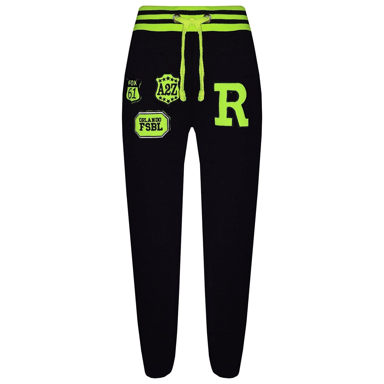 a2z4kids Kids Boys Girls Joggers Jogging Pants Trackie Bottom Fleece Casual Trouser 5-13Y