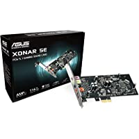 ASUS XONAR SE 5.1 Channel 192kHz/24-bit Hi-Res 116dB SNR PCIe Gaming Sound Card with Windows 10 Compatibility