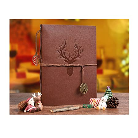 Veesun Photo Album Scrapbook Vintage Leather Scrap Book Refillable