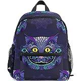 WUHONZS Canvas Backpack Alice in Wonderland Cheshire CAT Rucksack Gym Hiking Laptop Shoulder Bag Daypack for Men Women