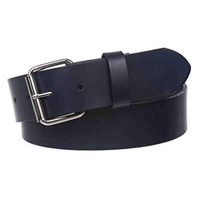 "1 1/2"" Standard Snap on Removable Roller Buckle Plain Solid Leather Belt"