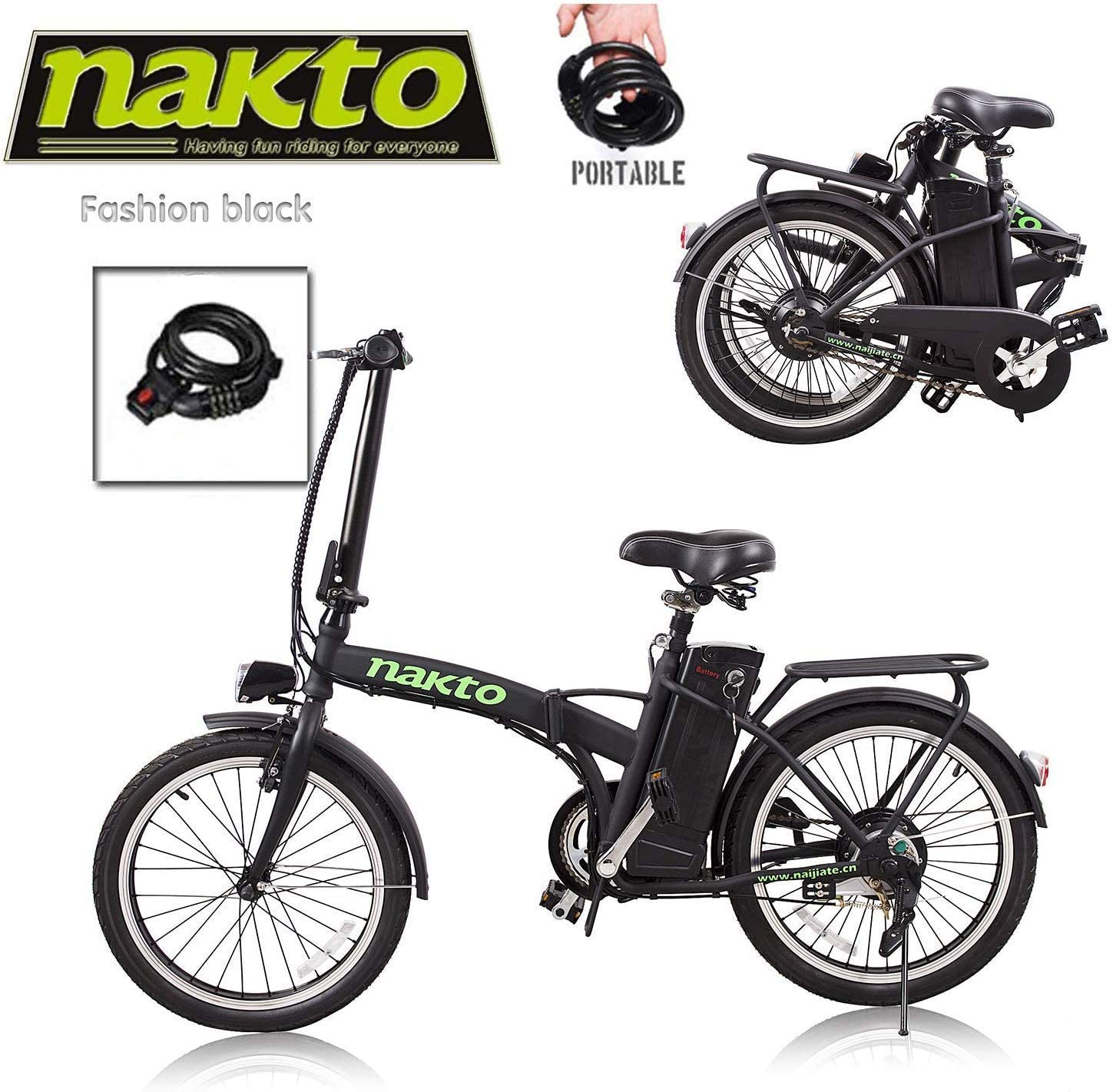 Santa Electric Bike for Adults 26 300W Electric Bicycle Ebike for Man Women