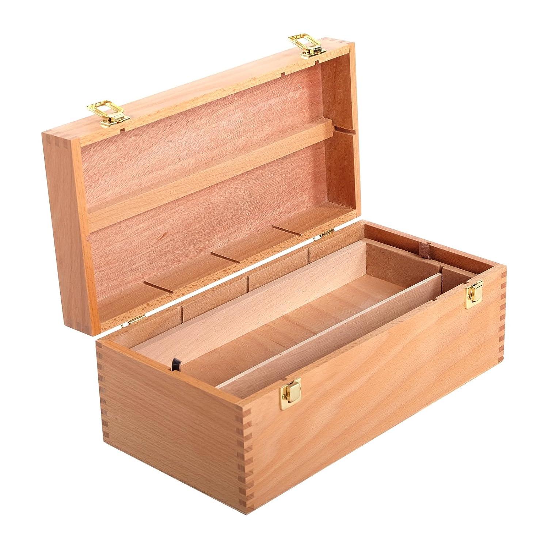 Contenitore in legno, 40 x 20 x 15 cm, in legno di faggio, valigetta per artisti xtradefactory GmbH