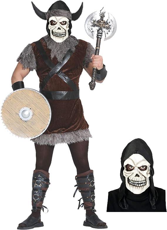 Disfraz de Vikingo calavera: Amazon.es: Ropa y accesorios