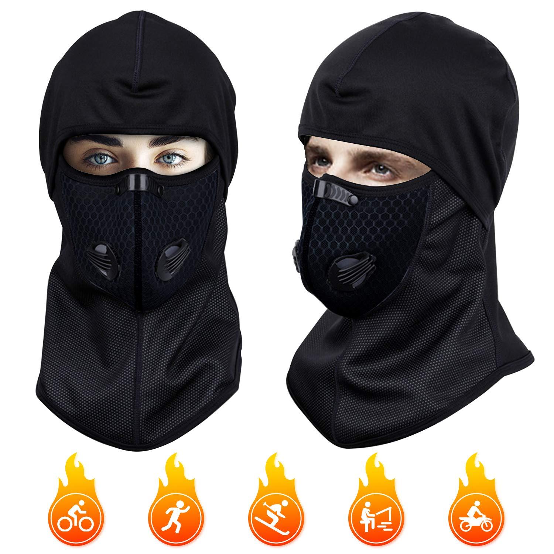 Pasamonta/ñas t/érmicas a prueba de viento Pasamonta/ñas para hombres y mujeres M/áscara facial transpirable Cubierta de cuello de invierno Calentador a prueba de viento Sombrero de casco para motociclet