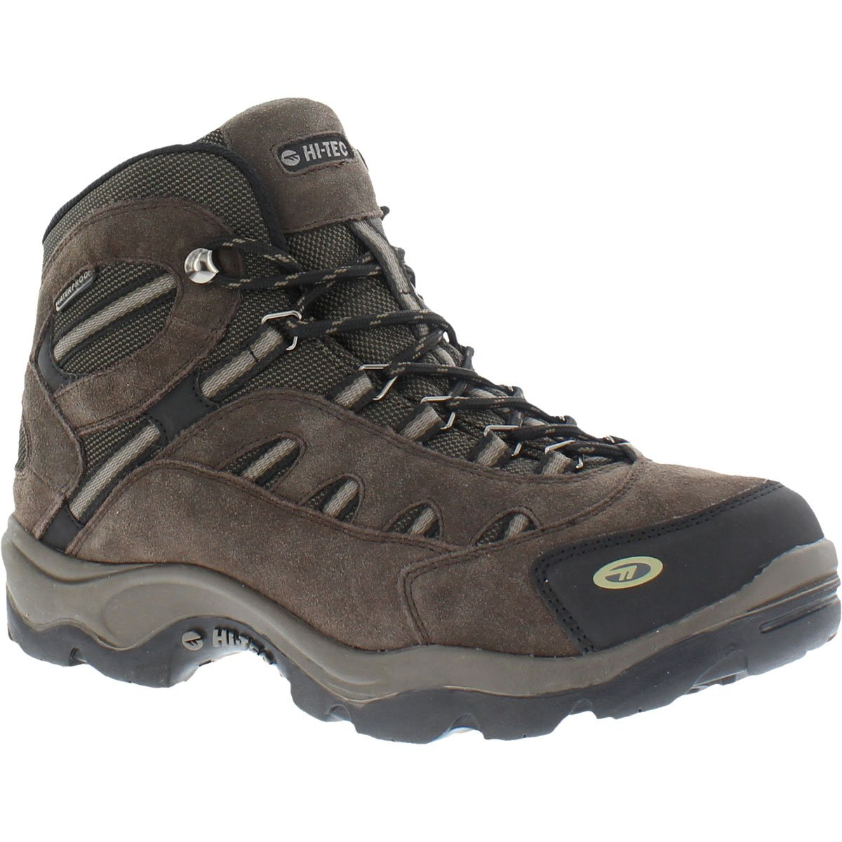 Hi-Tec Bandera Mid Waterproof Boots for Men - Chocolate/Bungee/Warm Grey