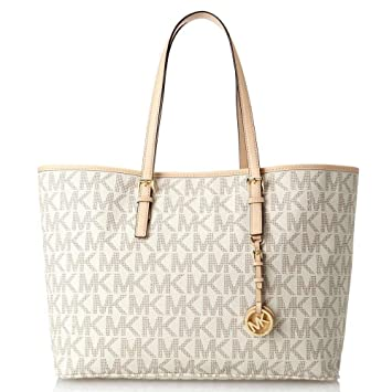 1d63fd9f4ba3 Amazon.com  Michael Kors Medium Jet Set Multifunction Saffiano Travel Tote  (One Size