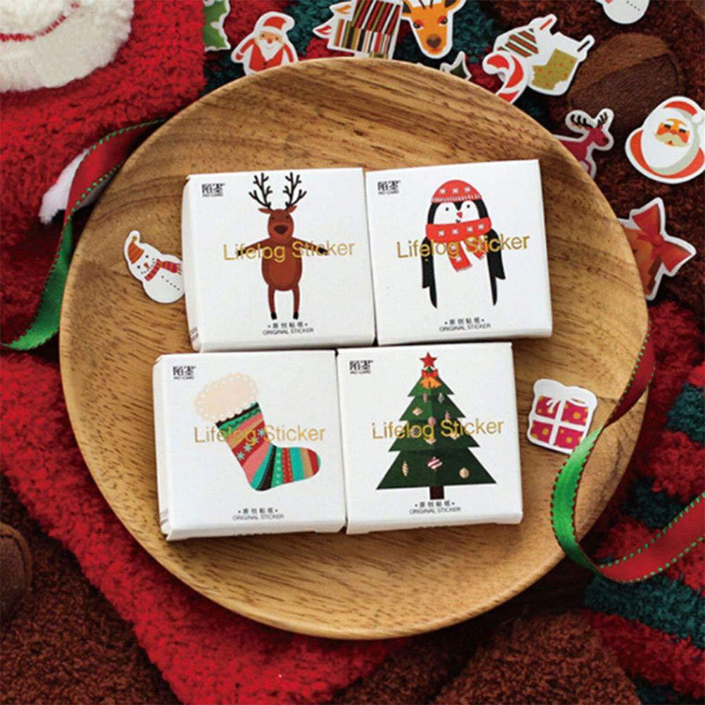 16 regali di Natale appiccicoso Etichette//Adesivi//Etichette-per regali pupazzo di neve