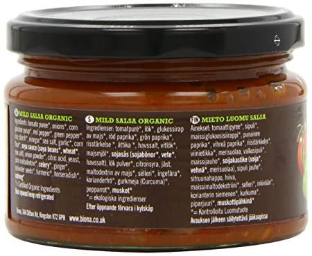 Amazon.com : Biona Organic Salsa Dip Mild 260 g (Pack of 3) : Grocery & Gourmet Food