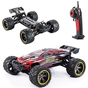 Best Rc Rock Crawler - GPTOYS RC Cars S912 LUCTAN 33MPH 1/12 Scale Electric Monster Hobby Truck With Waterproof Electronics, Remote Control Off Road Red / Truggy Toys