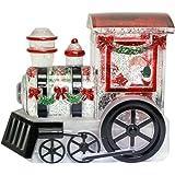 Roman Confetti Santa Claus Train LED Light-up 6 x 7 Inch Table Top Glitterdome
