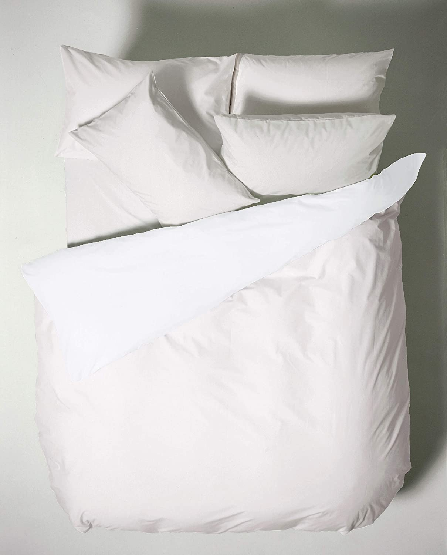 Bianca Plain Dyed Percale Parure de lit lit 180 White 50/X 110 100/% aldod/ón 2 3/ 260/X 280/+