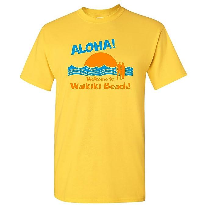 Amazon com: Aloha Waikiki Beach - Hawaii Hawaiian Ocean Surfing T