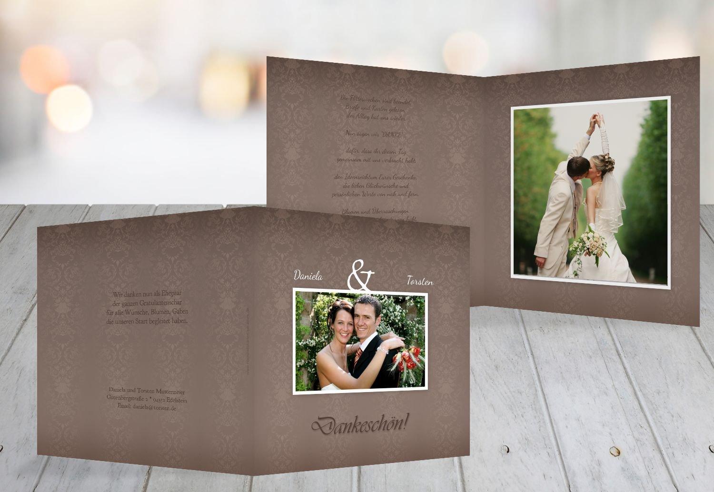 Kartenparadies Danksagung für Hochzeitsgeschenke Hochzeit Danke Eheversprechen, hochwertige Danksagungskarte Hochzeitsglückwünsche inklusive Umschläge   10 Karten - (Format  145x145 mm) Farbe  flamingoOrangerot B01N9U9DVM | Diversified