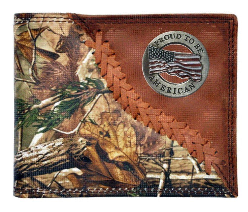 dafdfa1b4c6ff Custom 3D Belt Company Proud To Be American Realtree AP Camo Wallet Bi-fold  Wallet at Amazon Men's Clothing store: