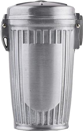 stylisches Abfalleimer-Design Mod HX909-01 Farbe: Silber Quantum Abacus Mini-Aschenbecher//Taschenaschenbecher//Reiseaschenbecher aus Metall