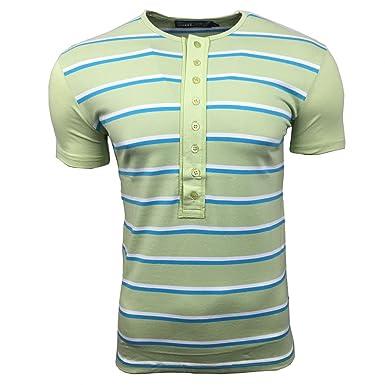 b2c2aa5c82faba Rusty Neal T-Shirt Herren Shirts Grün S M L XL XXL gestreift kurzarm  rundhals  Amazon.de  Bekleidung