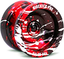 Sidekick Yoyo Pro Splashes Professional Aluminum UNresponsive YoYo (Black / Red / Silver)