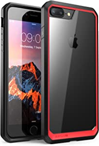 SUPCASE Unicorn Beetle Series Case Designed for iPhone 8 Plus, Premium Hybrid Protective Clear Case for Apple iPhone 7 Plus 2016 / iPhone 8 Plus 2017 Release (Red)