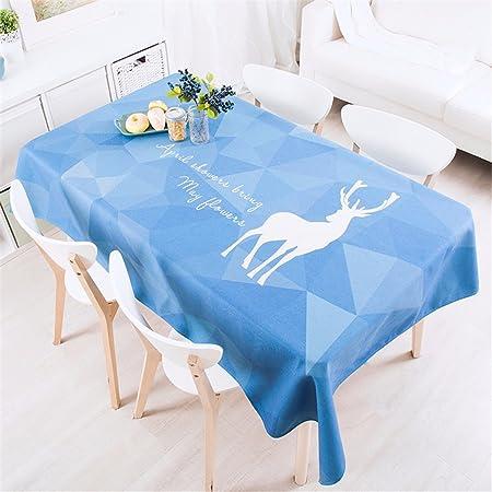 140 * 220 cm azul PATCHWORK geométricas de reno Nordic estilo ...