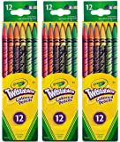 Crayola Twistables Colored Pencils, Assorted Colors 12 ea ( Pack of 3)