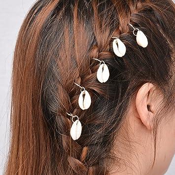 5//10Pcs Women Ladies Hip-Hop Hand Cross Shell Star Hair Clips Accessory