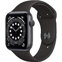 Apple Nuevo Watch Series 6 GPS • Caja de Aluminio Gris Espacial de 44 mm • Correa Deportiva Negra - Estándar