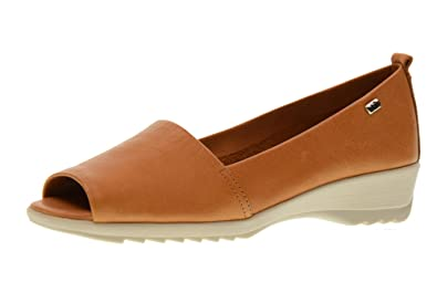 Shoes Woman Moccasin Popped 41141 Cognac