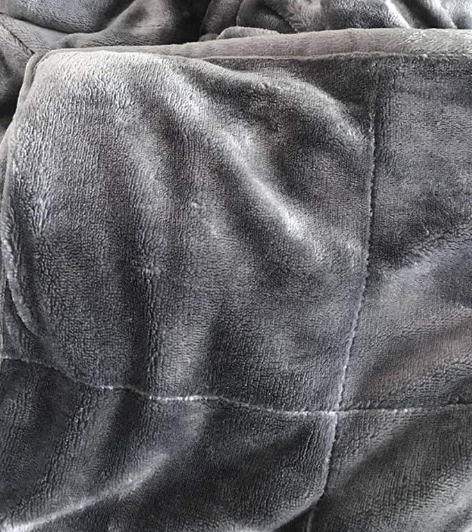 LZHDAR Manta Ponderada, Algodón Gris 47.5 * 190.5Cm con Diseño De Cremallera Oculta Aumenta La Serotonina Y La Melatonina Transpirable Durable: Amazon.es: ...