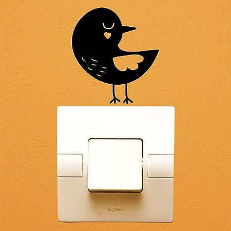 Wall or Laptop Orange Bird Decal Vinyl Sticker for Car