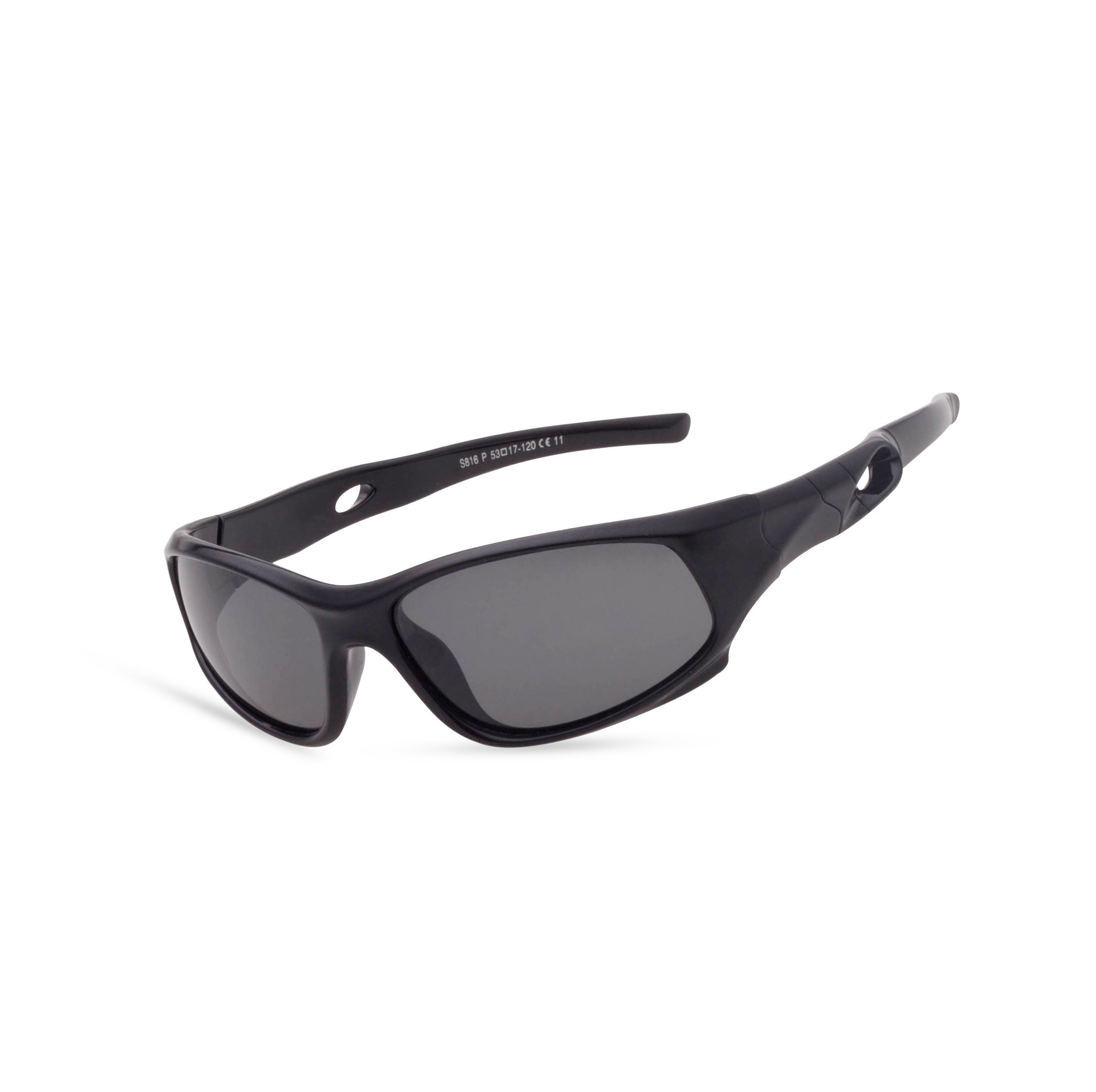 Tacloft TR90 Kids Polarized Sunglasses 53MM Children Sunglasses Wayfarer S816P Black