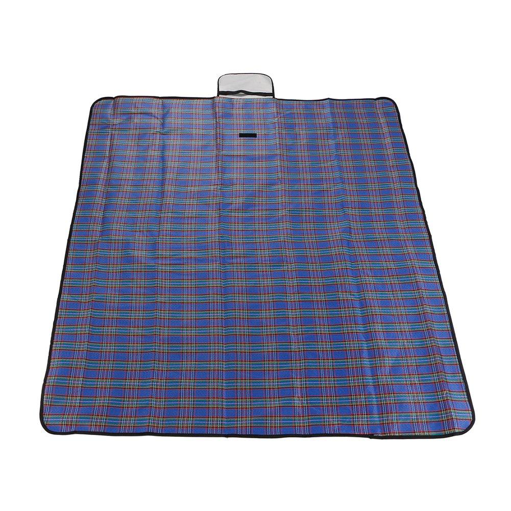 Doober Waterproof Garden Camping Beach Picnic Hiking Plaid Blanket Mat Travel Rug (180150cm, Blue) by Doober (Image #1)