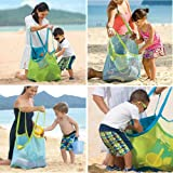 Togather® Extra Large Family Mesh Beach Bag Tote Backpack Toys Towels Sand Away - Blue