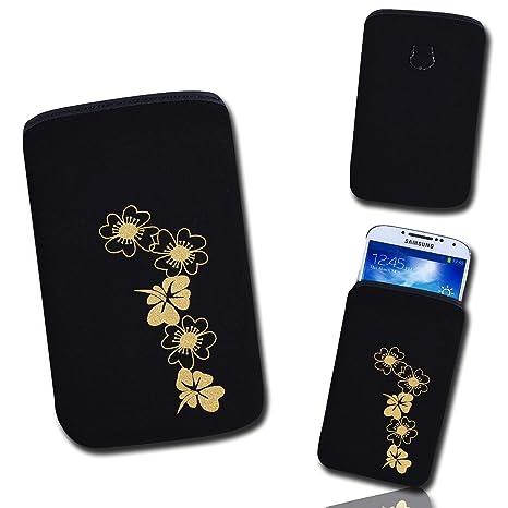 Handy Tasche Schwarzgold B6 3 Für Huawei Ascend G330 Zte Grand X