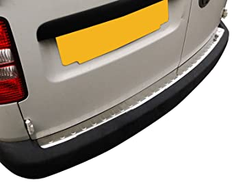 Rear Bumper Protector Cover VW Caddy 2004-2015 Stainless Steel Chrome
