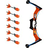 Zing HyperStrike  Bow and  Foam Arrows, Clear Orange, with an Incredible Range of Over 250ft. Great for Long Range Outdoor Play with Friends and Family. The Hyperstrike Bow is Perfect for Safe Fun!