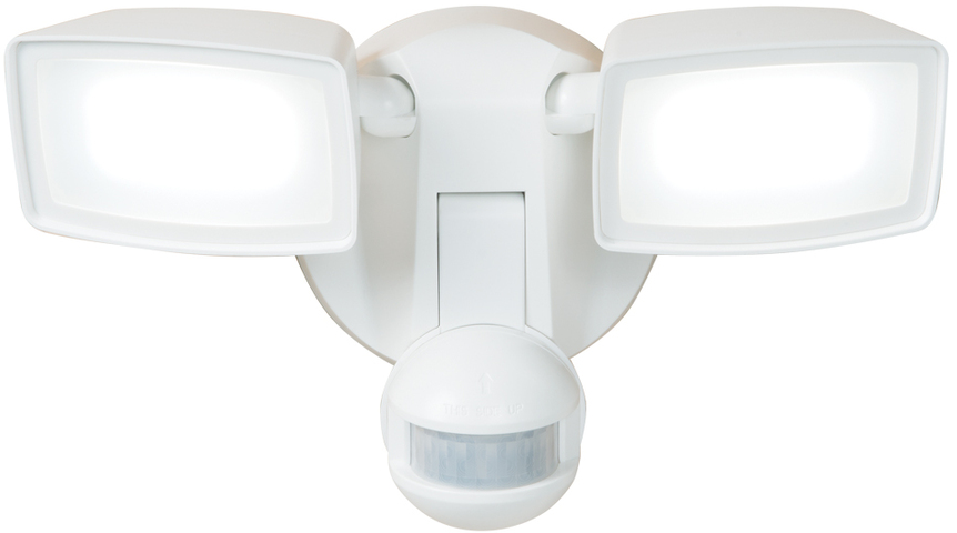 Shop All-Pro 180-Degree 2-Head White LED Motion-Activate​d Flood Light with Timer at Lowes.com