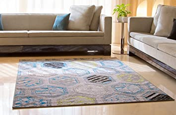 Amazon Com Luxury Distressed Modern Area Rugs For Living Room 5x8
