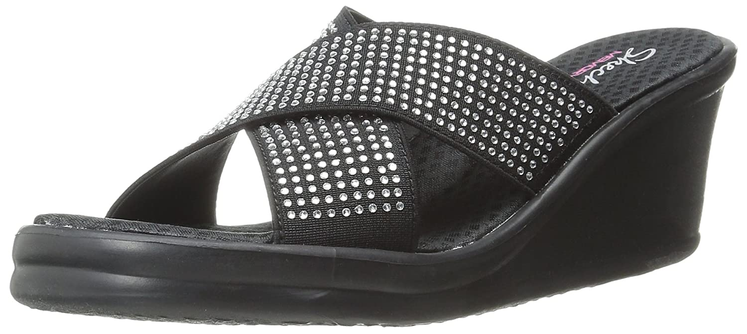 Womens Skechers Cali Women's Rumblers Metal Mama Wedge Sandal Outlet Us Online Size 37