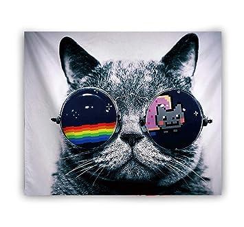 YINGBAOBAO Tapicería Toalla De Playa Almohadilla De Yoga Gafas De Sol para Gato Material De Poliéster 100×150Cm: Amazon.es: Hogar