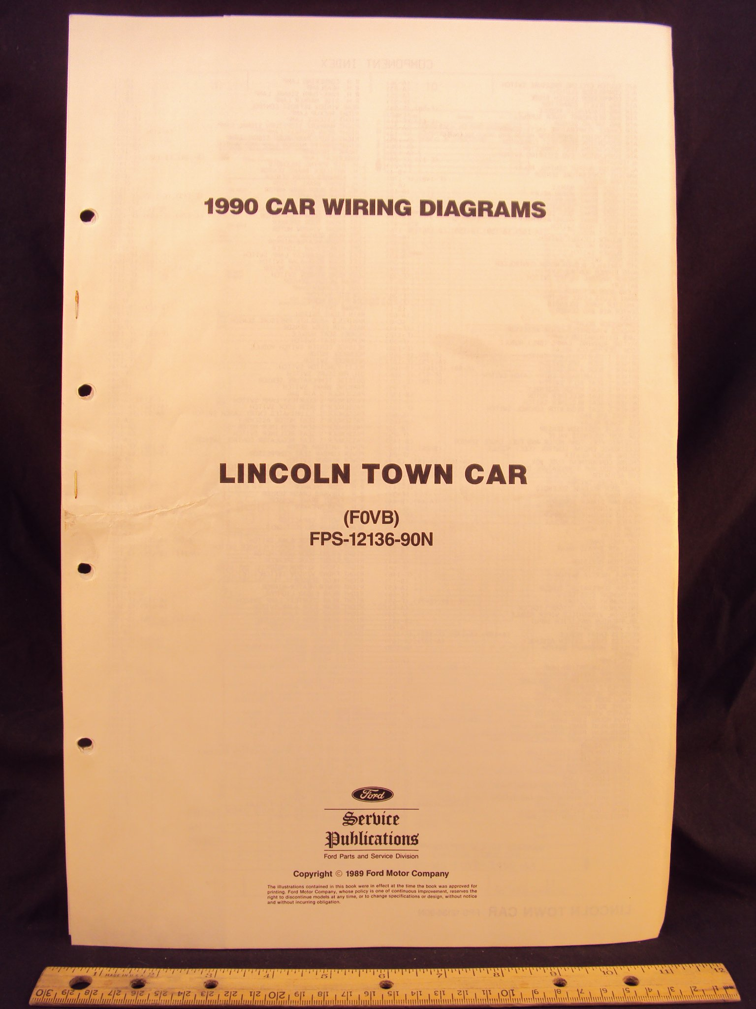 1990 lincoln town car electrical wiring diagrams / schematics loose leaf –  january 1, 1989