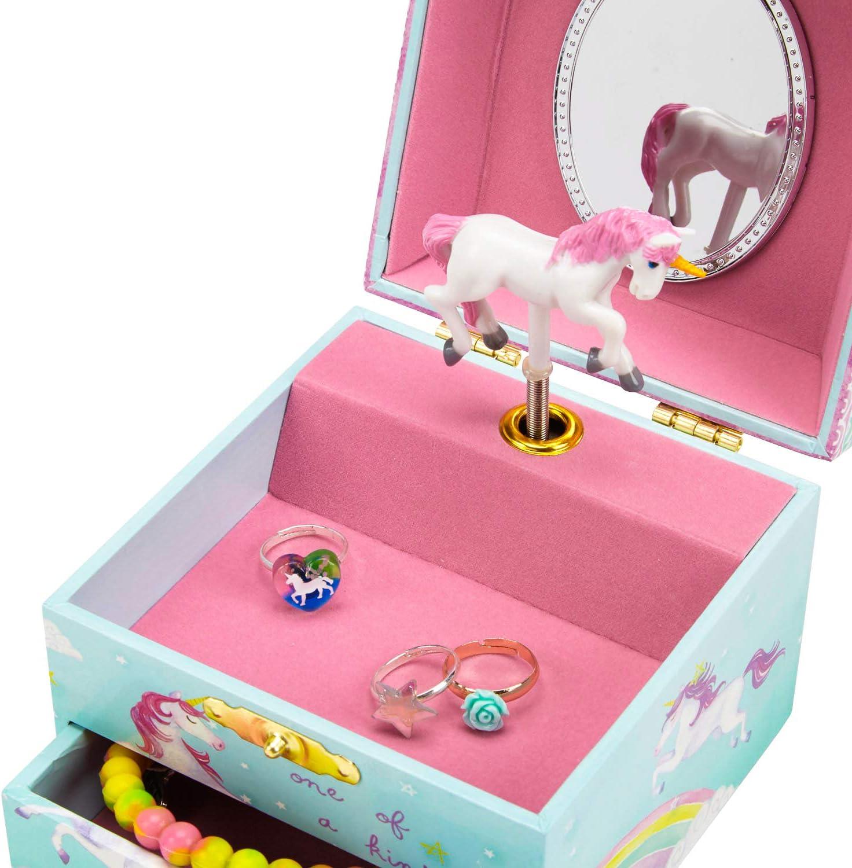 Sass /& Belle colore Portagioie con unicorno Oro